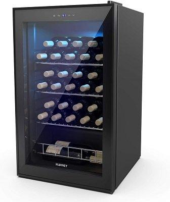 KUPPET-35-Bottles-Compressor-Freestanding-Quiet-Wine-Cooler