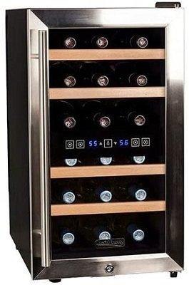 Koldfront TWR187ESS 18 Bottle Dual Zone Quiet Wine refrigerator