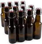 11 oz. Grolsch Glass Airtight Seal Storage Beer Bottles