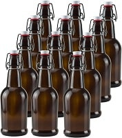 16 oz Amber Glass Beer Bottles Container