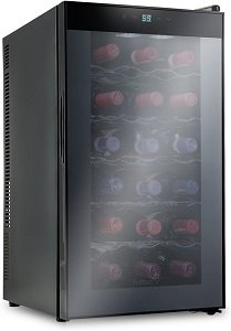 Ivation 18 Bottle Thermoelectric Red And White Wine Refrigerator