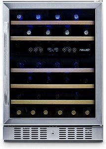 NewAir Dual Zone 46 Bottle Built-In Wine Refrigerator