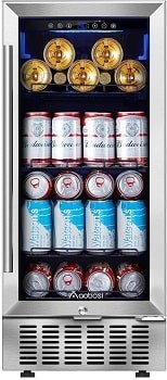 Aobosi 94 Cans Built-in Beverage Cooler and Refrigerator
