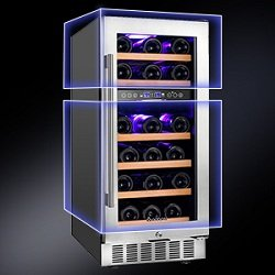 Aobosi dual zone wine cooler