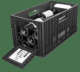Flexible Plastic Wine Crates for Wine Collectors