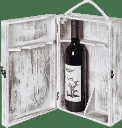 Mygift 2-Bottle Wooden Wine Storage Box
