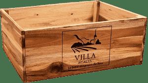 Thirteen Chefs Large Wooden Wine Crate