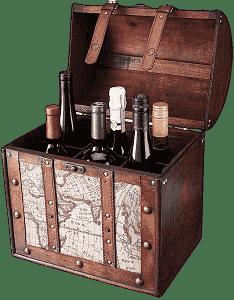 Twine 6 Bottle Wooden Wine Box