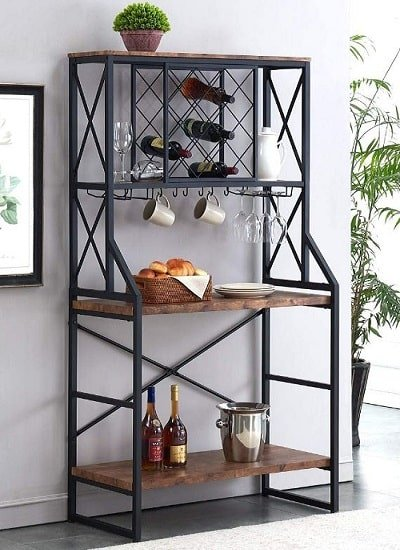 Best Bakers Racks with Wine Storage