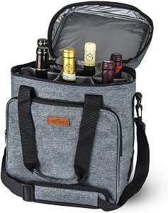 Freshore Insulated Wine Carrier 6 bottle Bag Tote