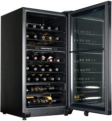 Haier 40 Bottle Dual-Zone Free Standing Wine Cooler Review
