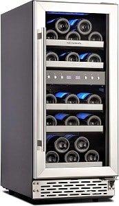 Phiestina 15 Inch Dual Zone Wine Cooler Refrigerator