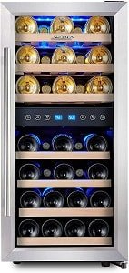 Phiestina 33 Bottle Dual Zone Wine Cooler