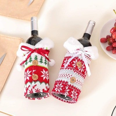 Christmas Sweater Wine Bottle Cover
