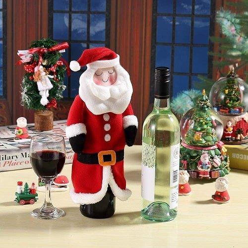 Dream Brige Handmade Christmas Santa Wine Bottle Covers