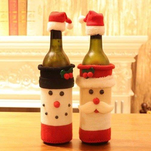 MANISHO 2PCS Christmas Wine Bottle Cover