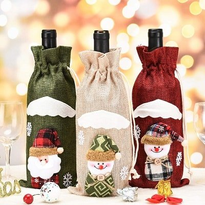 PGXT 3pcs Christmas Wine Bottle Cover