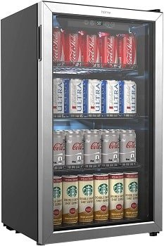 hOmeLabs 120 Cans Coldest Mini Fridge with Glass Door