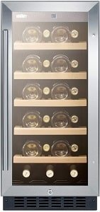 Summit 15 Inch Wide 23 Bottle Capacity Wine Cooler