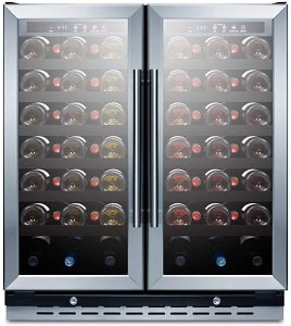 Summit Appliance SWC3066B Commercially Approved 30 Inch Wine Cooler
