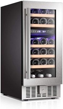 Antarctic Star 15 Inch Built-in Wine Cooler and Beverage Refrigerator