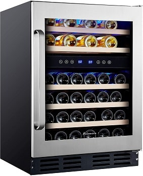 Kalamera 45-Bottle Dual-Zone Built-in Wine Cooler