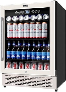 COLZER 180 Cans of High-Capacity Full Size Beverage Refrigerator