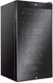 Ivation 28 Bottle Compressor Wine Cooler With Lock