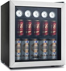 KUPPET 62-Can Mini Beverage Cooler and Refrigerator