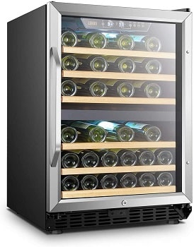 Lanbo 44 Bottle Built-in Dual Zone Compressor Wine Cooler