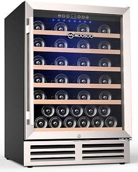 MOOSOO 24 Inch Wine Cooler with lock