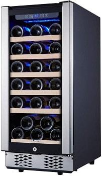 STAIGIS 15 Inch 30 Bottles Wine Fridge With Lock