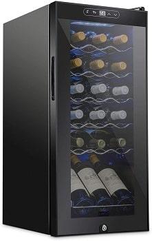 Schmecke 18 Bottle Compressor Wine Cooler Refrigerator With Lock