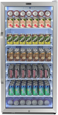 Whynter 8.1 cu. ft. Full Size Stainless Steel Beverage Refrigerator