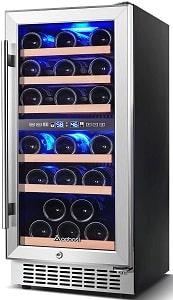 AAOBOSI 15 inch 30 Bottles Wine Cooler Refrigerator