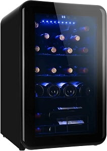 AIDUODA 24 Bottle Countertop Freestanding Wine Cooler