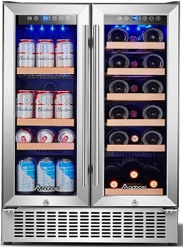 Aobosi 24 Inch Built-in Beverage and Wine Cooler