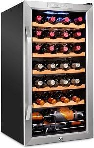 Ivation 28 Bottle Compressor Wine Cooler Refrigerator