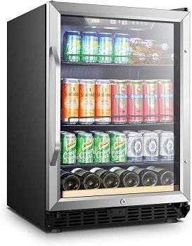 Lanbo 110 Cans 6 Bottles Built-in Beverage Refrigerator