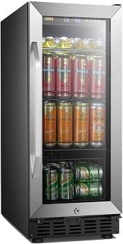 Lanbo 15 Inch Built-In 70 Cans Beverage Fridge