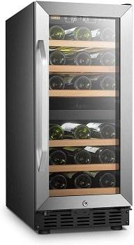 Lanbo 15 Inch Wide Dual Zone Compressor Wine Refrigerator