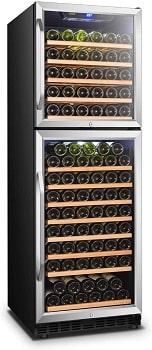 Lanbo 162 Bottles Dual Door Dual Zone Built-in Wine Cooler