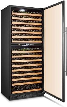 Lanbo 287 Bottle Built-in Dual Zone Compressor Wine Cooler Refrigerator