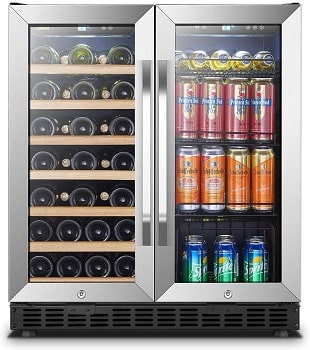 Lanbo 30 Inch Built-in Dual Zone Wine and Beverage Cooler