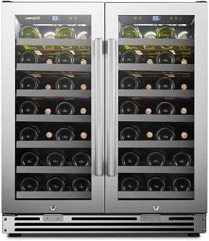 LanboPro Stainless Steel Dual Zone Wine Cooler