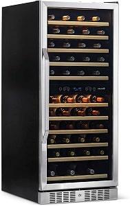 NewAir 116 Bottle Large Capacity Dual Zone Wine Cooler