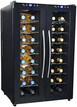 NewAir 32-Bottle Dual Zone Thermoelectric Wine Cooler