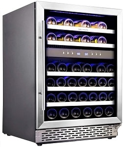 Phiestina 46 Bottle Dual Zone Compressor Cooling Wine Cooler