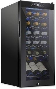 Schmecke 18 Bottle Freestanding Wine Cooler Refrigerator