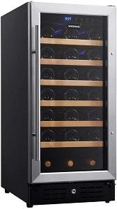WIKIVINO 15 Inch 33 bottles Freestanding Wine Fridge